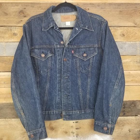 Levi's Other - Vintage Levi Jean Jacket Dark Wash70505 0217